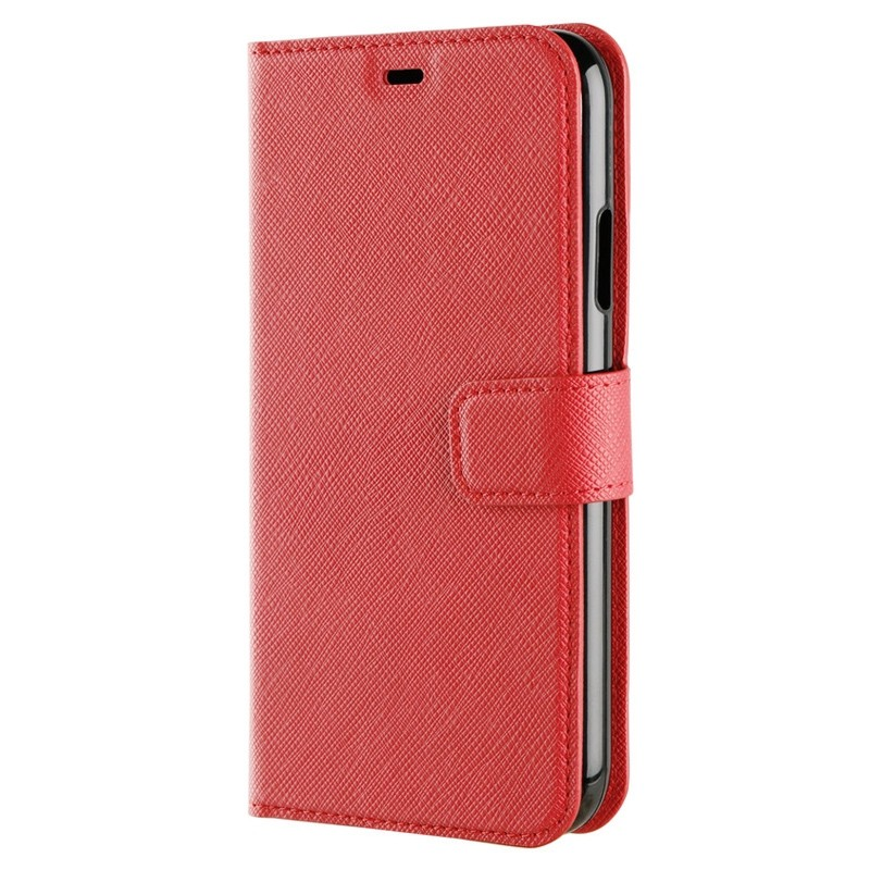 Xqisit Wallet Case Viskan iPhone XR Rood 06