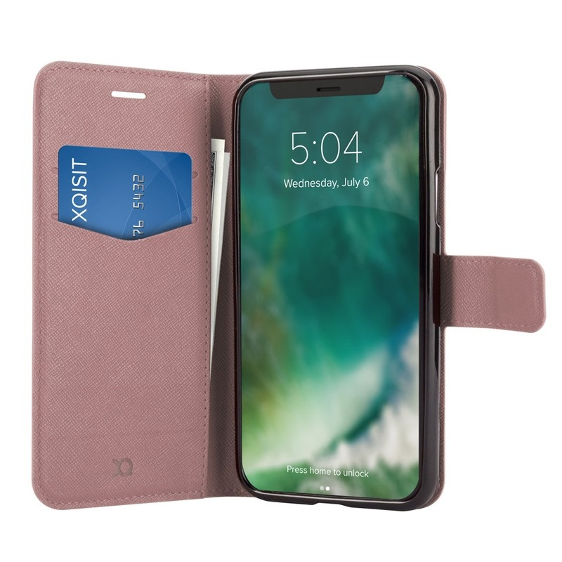 Xqisit Wallet Case Viskan iPhone XR Rose 03