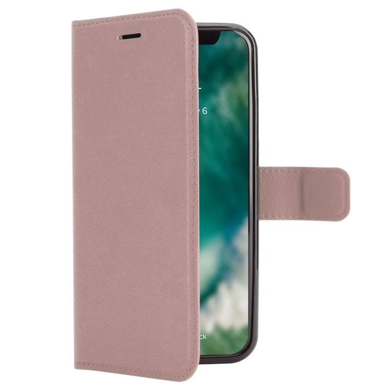 Xqisit Wallet Case Viskan iPhone XR Rose 01