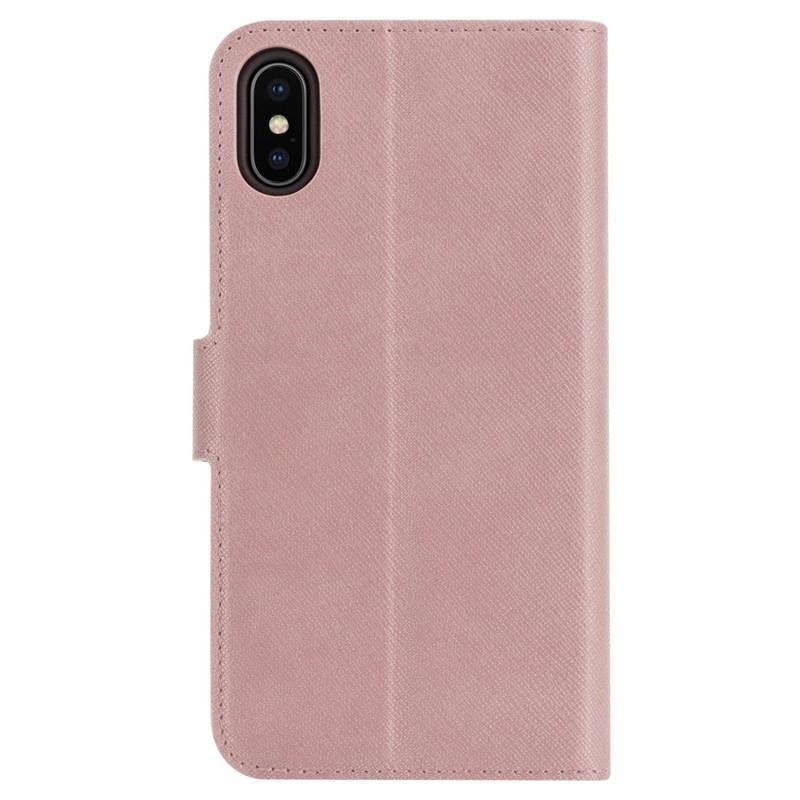 Xqisit Wallet Case Viskan iPhone XS Max Hoesje Roze 02
