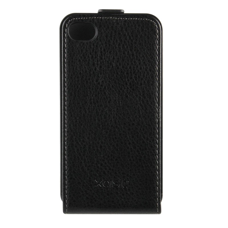 Xqisit FlipCover iPhone 4/4S Black - 2