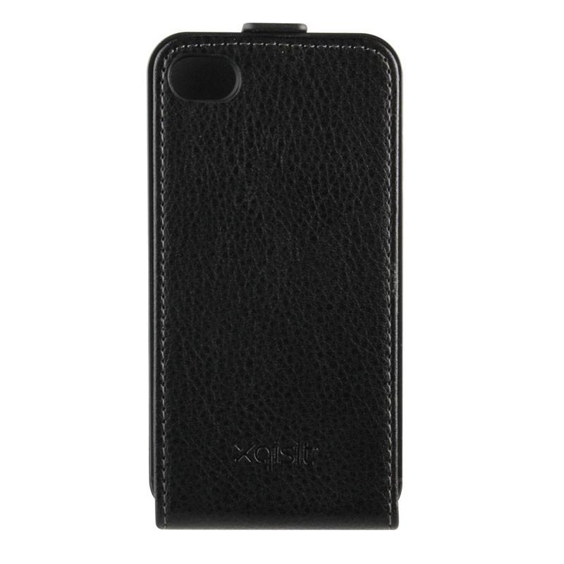 Xqisit FlipCover iPhone 4/4S Black - 2