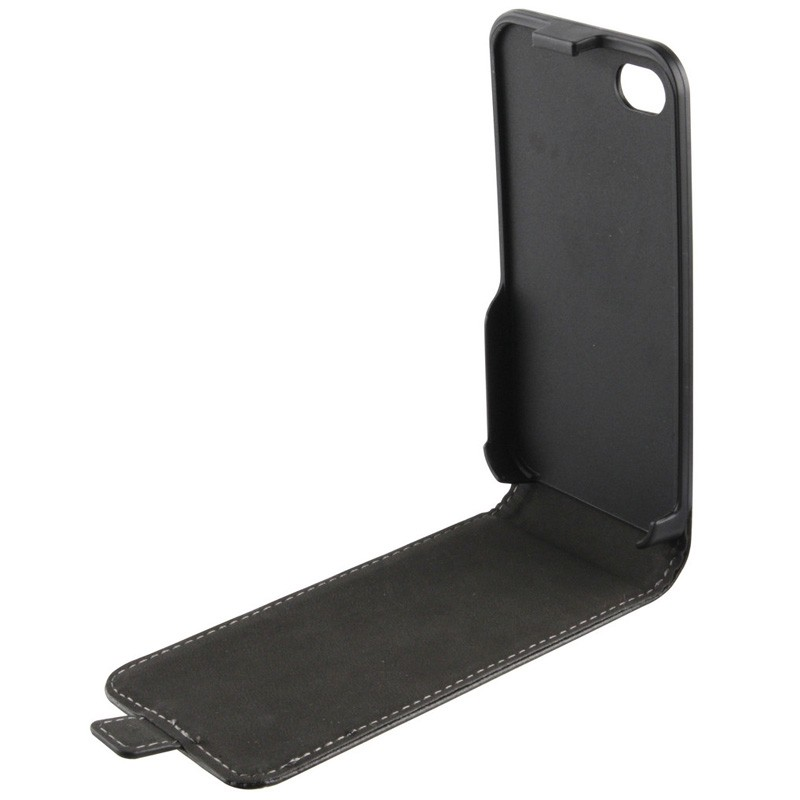 Xqisit FlipCover iPhone 4/4S Black - 3