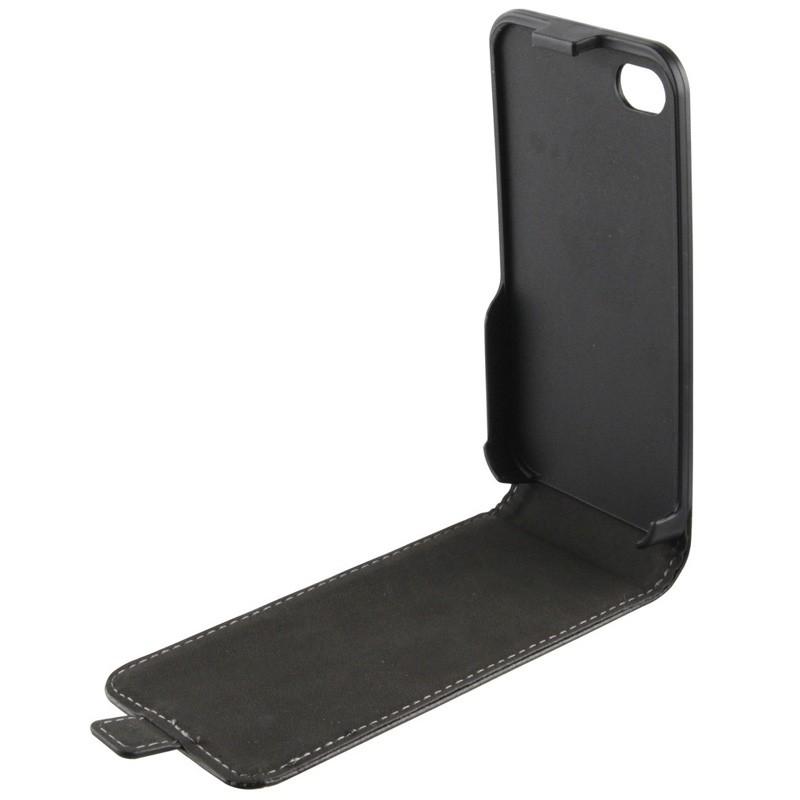 Xqisit FlipCover iPhone 4/4S Black - 3