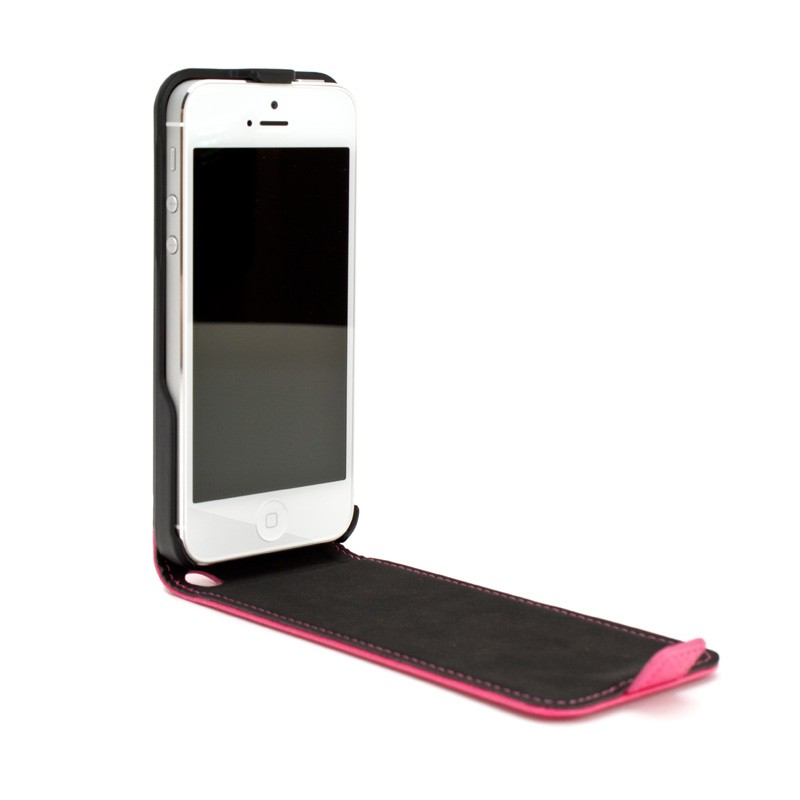 Xqisit Flipcover iPhone 5 Pink - 3