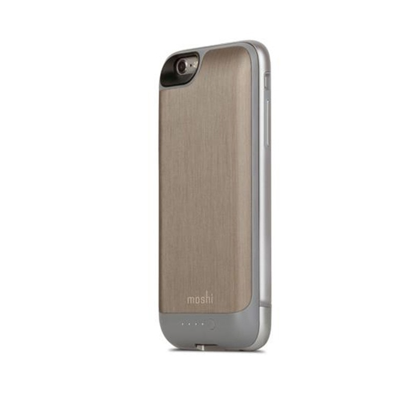 Moshi - iGlaze Ion Batterij Case iPhone 6 / 6S Brushed Titanium 03