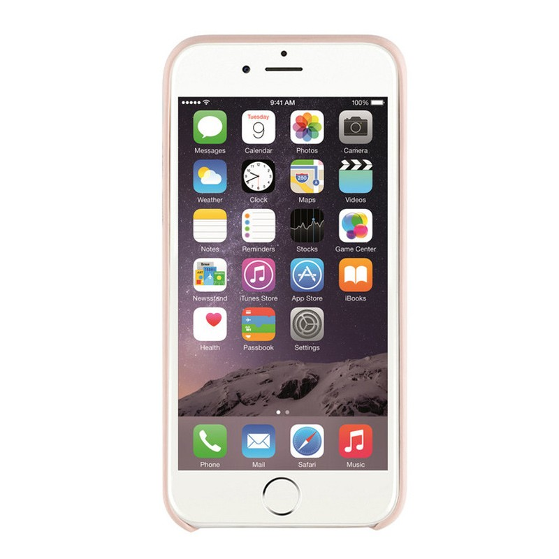 Xqisit iPlate Gimone iPhone 7 hoes beige 03