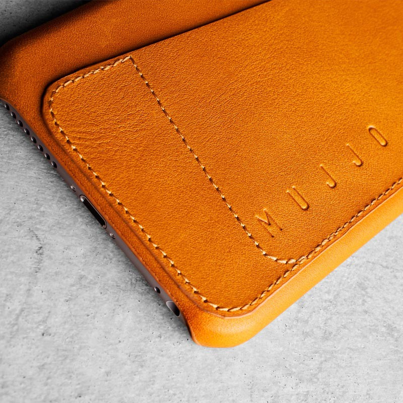 Mujjo Leather Wallet Case 80 iPhone 6 Tan - 3
