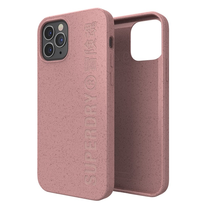 Superdry Compostable Snap Case iPhone 12 en iPhone 12 Pro Pink 03