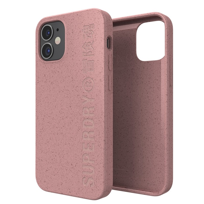 Superdry Compostable Snap Case iPhone 12 Mini Pink 03