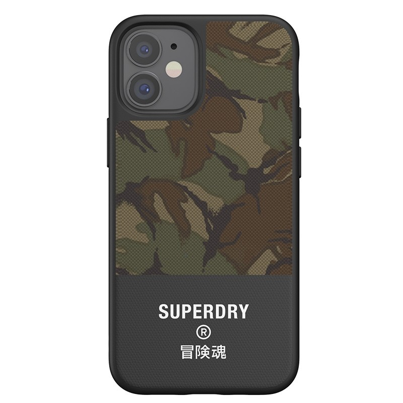 Superdry - Moulded Case Canvas iPhone 12 Mini camo 04