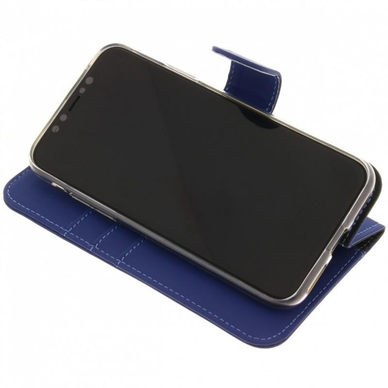 Accezz Booklet Wallet iPhone XR Hoesje Blauw - 3