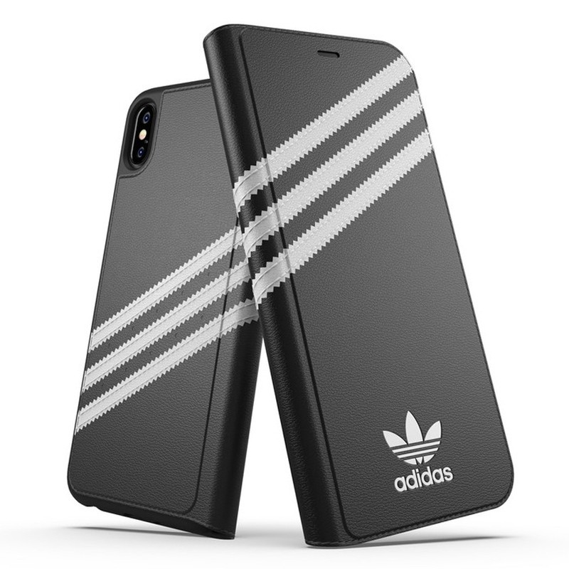 Adidas Booklet Case iPhone Xs Max zwart/wit 04