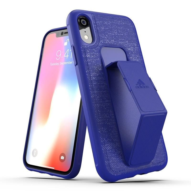 Adidas Grip Case iPhone Xr blauw 03