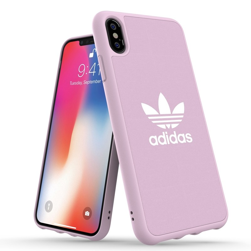Adidas Moulded Case Canvas iPhone XS Max hoesje roze 03