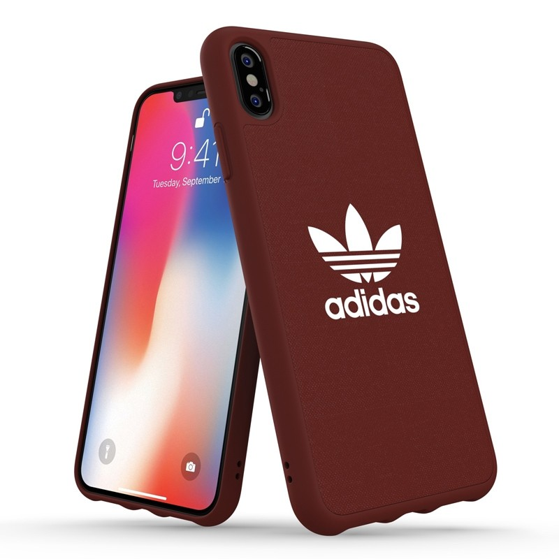Adidas Moulded Case Canvas iPhone XS Max rood 03
