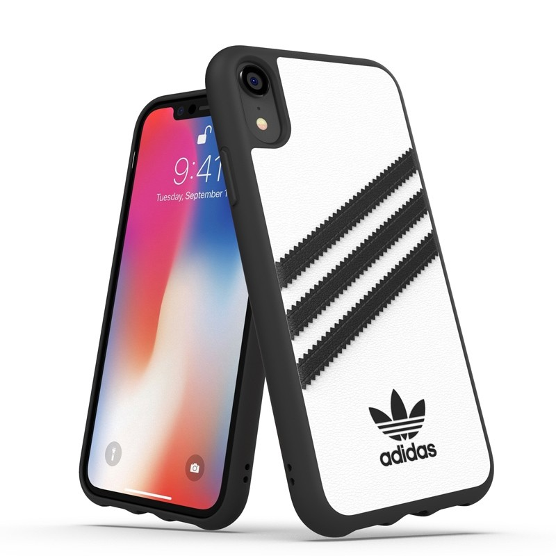 Adidas Moulded Case iPhone Xr wit/zwart 03