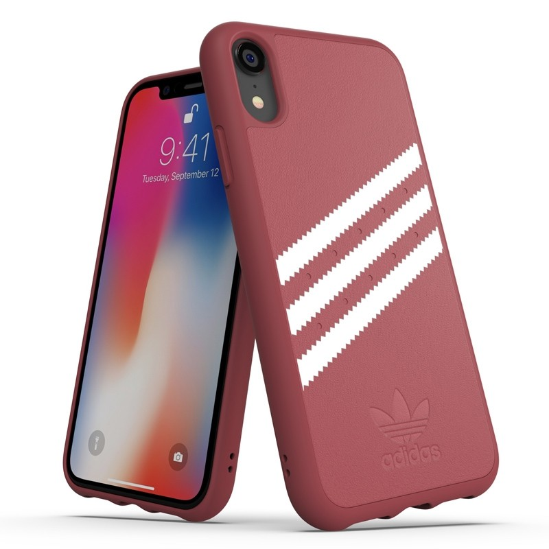 Adidas Moulded Case Suede iPhone Xr donker roze 03