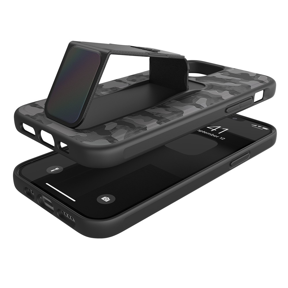 Adidas Grip Case Camo iPhone 12 / 12 Pro 6.1 Zwart Iridescent - 3