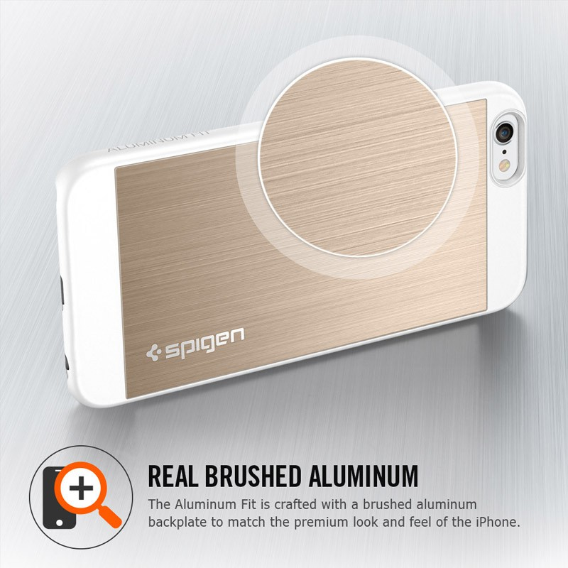 Spigen Aluminium Fit iPhone 6 Champagne - 3
