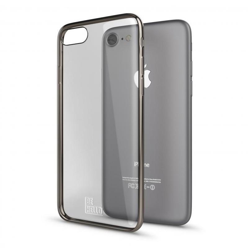 BeHello Gel Case Chrome Edge iPhone SE (2020)/8/7/6S/6 Goud - 3