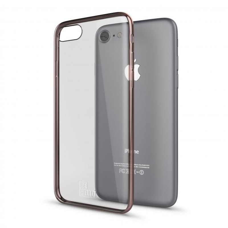 BeHello Gel Case Chrome Edge iPhone SE (2020)/8/7/6S/6 Rose Goud - 3