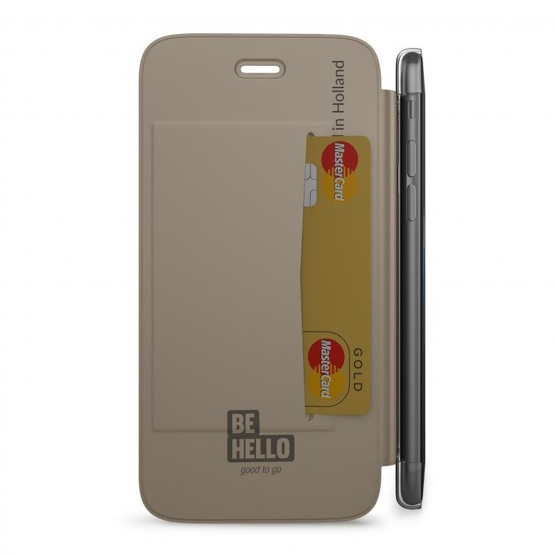 BeHello Clear Back Wallet Case iPhone 8/7/6S/6 Goud - 3