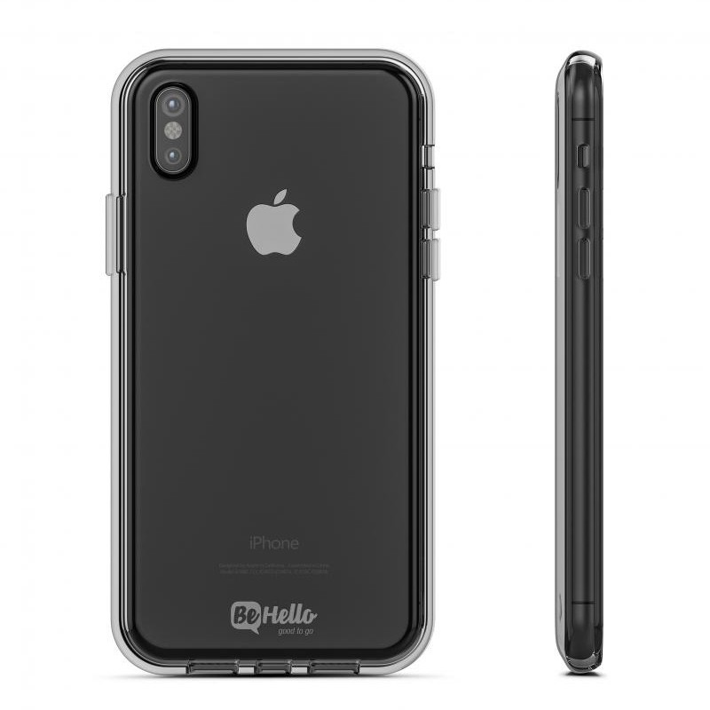 BeHello Gel Case iPhone X/Xs Hoesje Transparant 03
