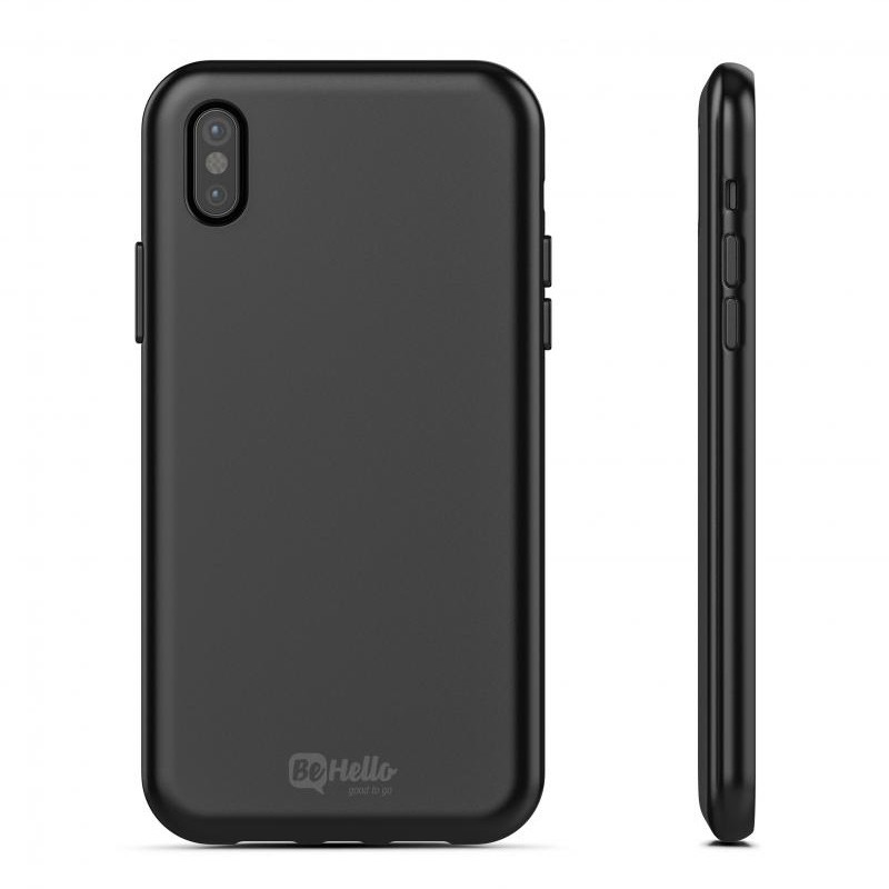 BeHello Gel Case iPhone X Hoesje Zwart 03