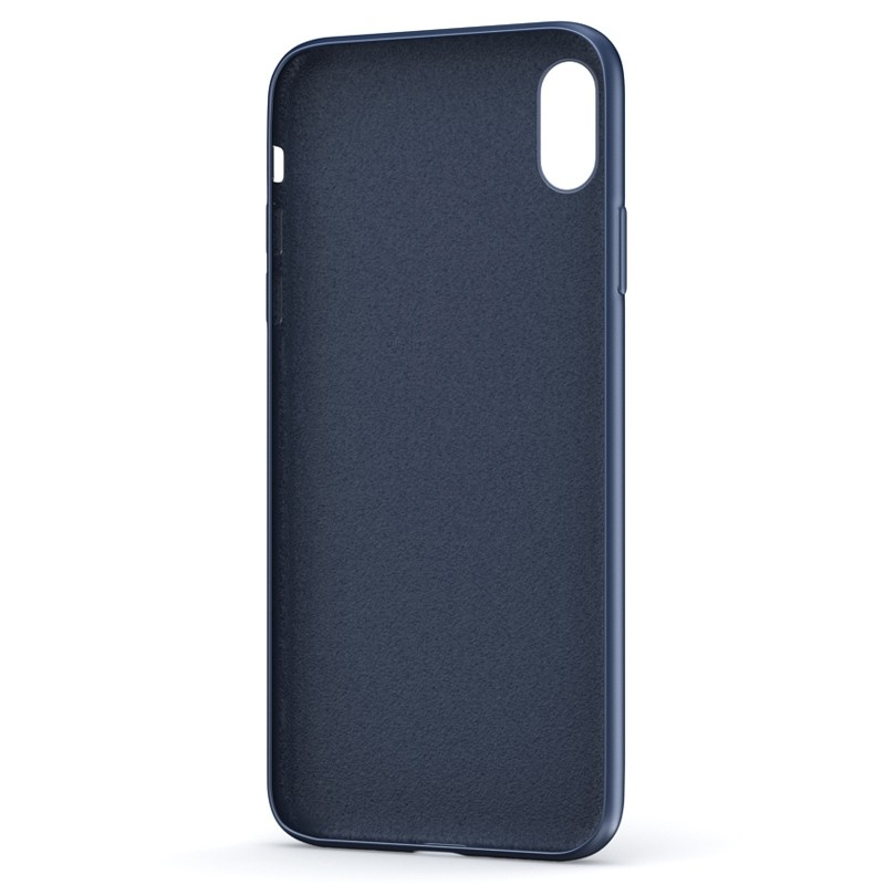 BeHello Liquid Silicon Case iPhone XS Max Blauw 03