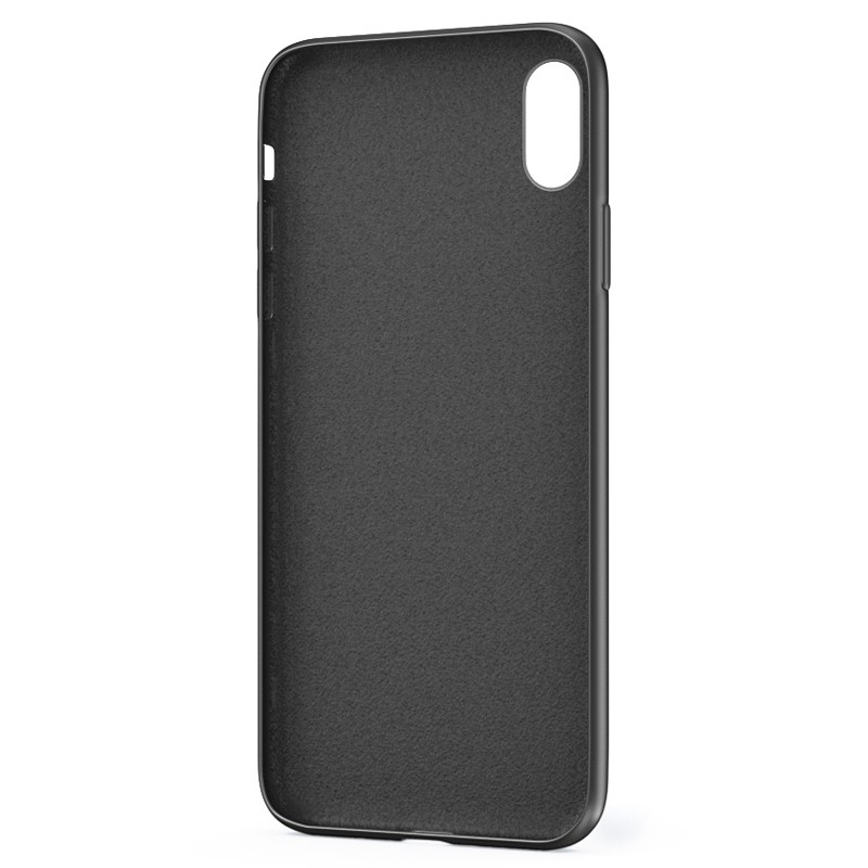 BeHello Liquid Silicon Case iPhone XS Max Zwart 03
