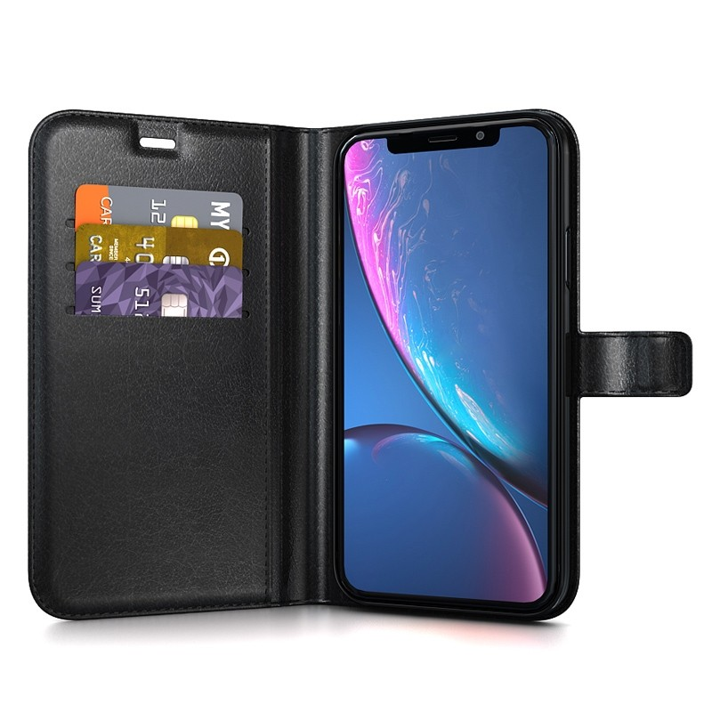 BeHello Wallet Case iPhone XR Zwart 03
