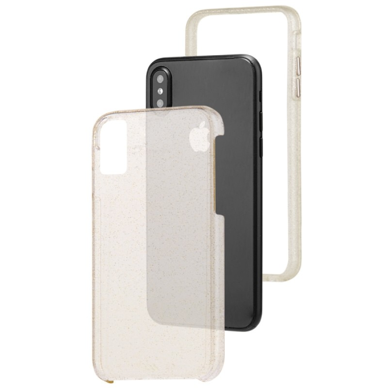 Case-Mate Naked Tough iPhone X/Xs Hoesje Sheer Glam 03