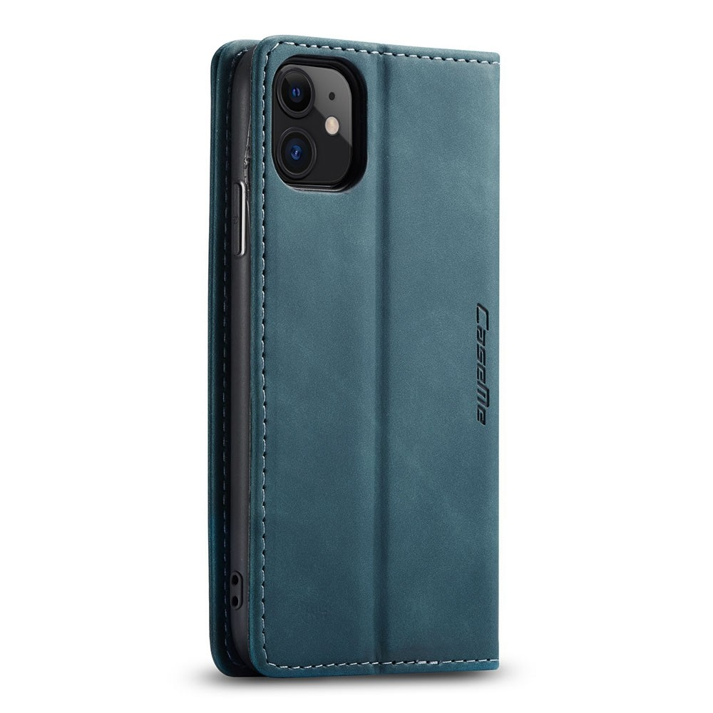 CaseMe Retro Wallet iPhone 11 Blauw - 3
