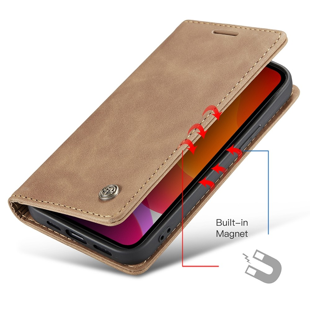 CaseMe Retro Wallet iPhone 11 Bruin - 3