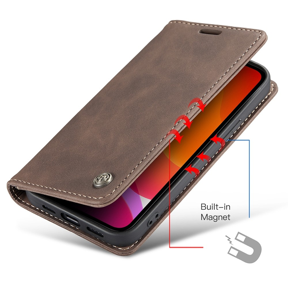 CaseMe Retro Wallet iPhone 11 Coffee - 3