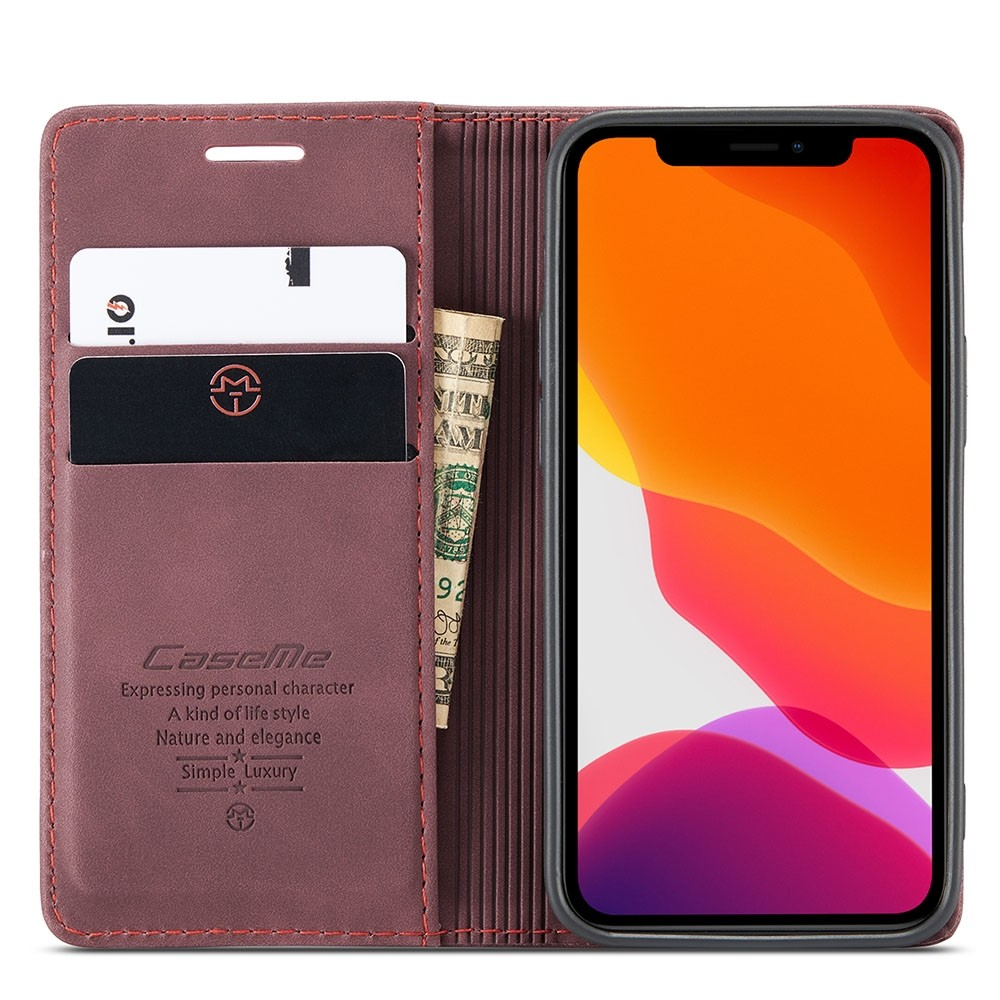 CaseMe Retro Wallet iPhone 12 Pro Max Paars - 3