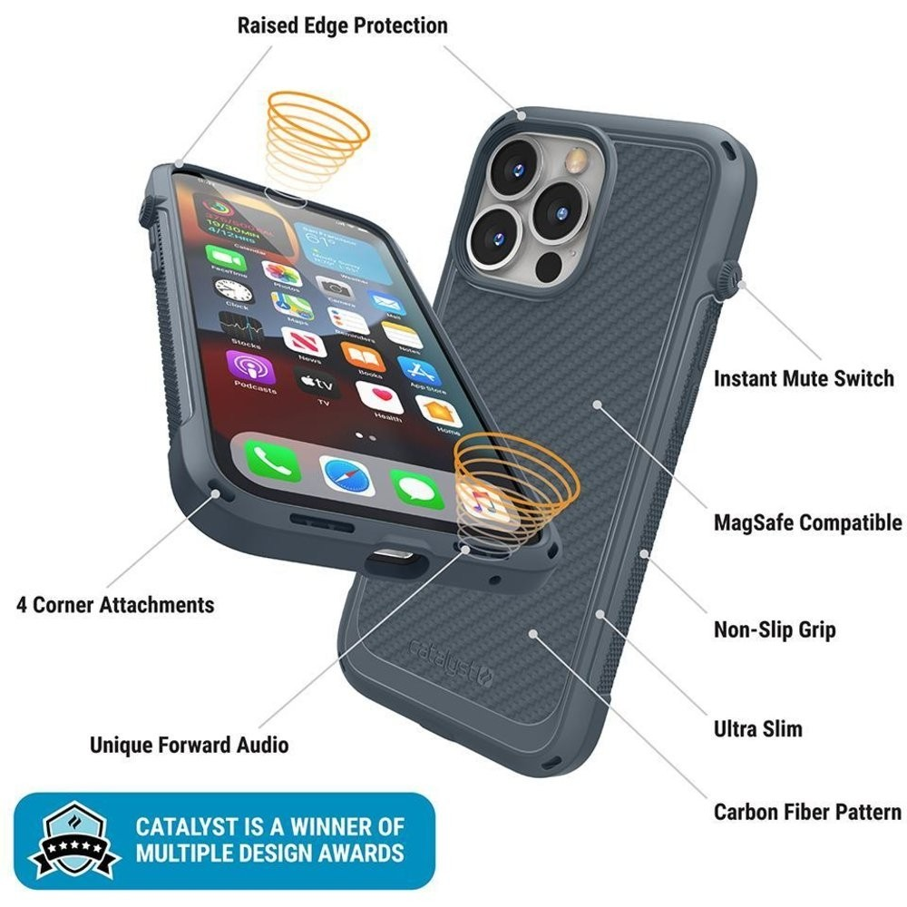 Catalyst Vibe Case MagSafe iPhone 13 Pro Grijs 03
