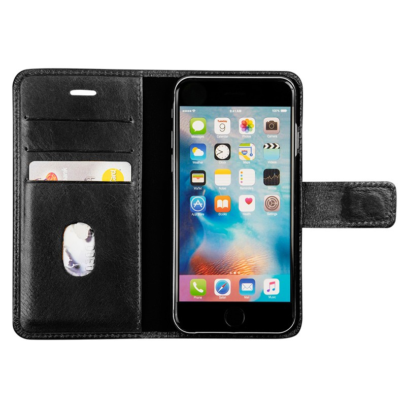 DBramante1928 - Copenhagen 2 Leather Folio iPhone 7 Black 03