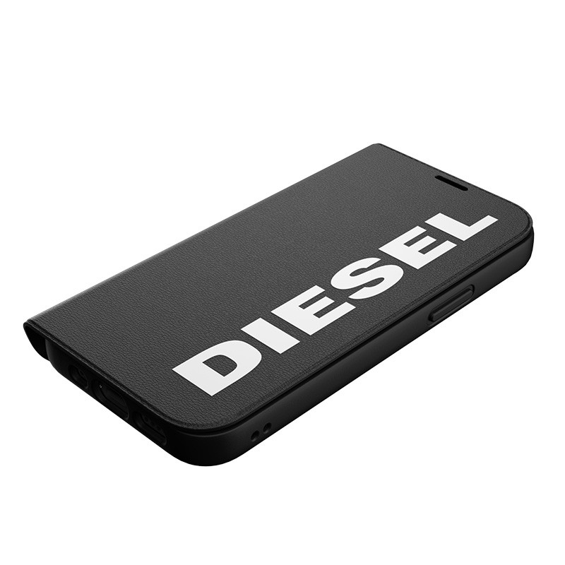 Diesel Booklet Case iPhone 12 / 12 Pro 6.1 zwart-wit 03
