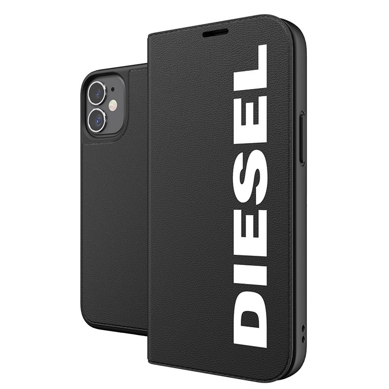 Diesel Booklet Case iPhone 12 Mini zwart-wit 03