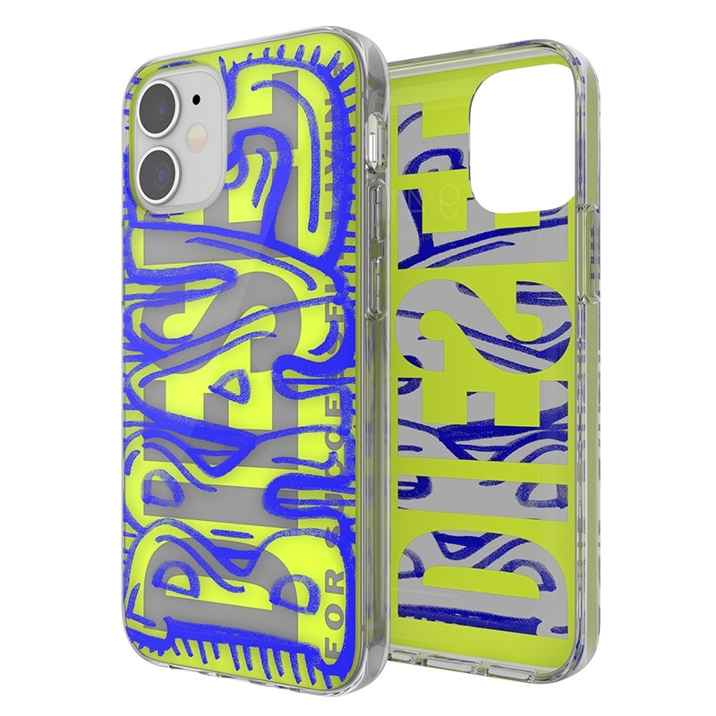 Diesel Snap Case Clear iPhone 12 Mini 5.4 clear yellow blue 03