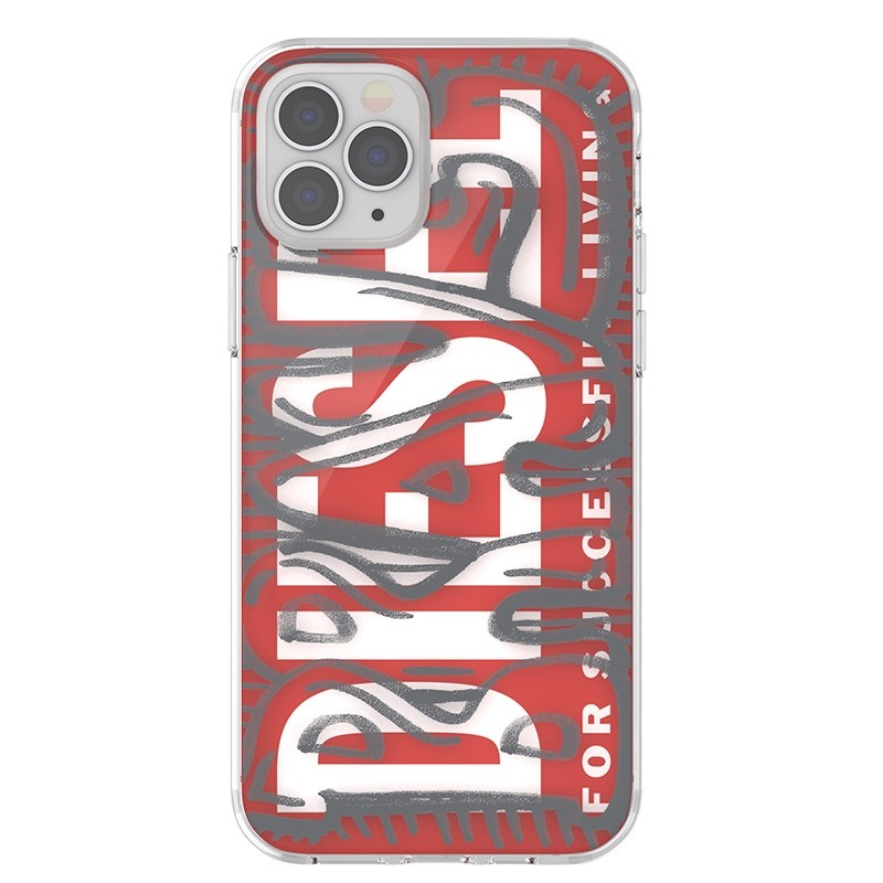 Diesel Snap Case Clear iPhone 12 / 12 Pro 6.1 clear red white 03