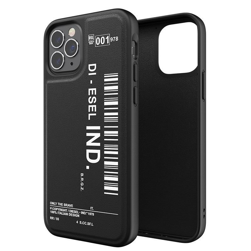 Diesel Moulded Case iPhone 12 Pro Max zwart/wit 03