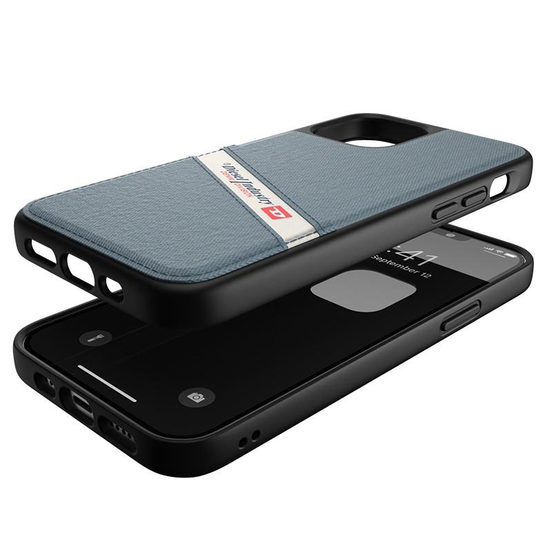 Diesel - Moulded Case iPhone 12 / 12 Pro 6.1 blauw/wit/zwart 03