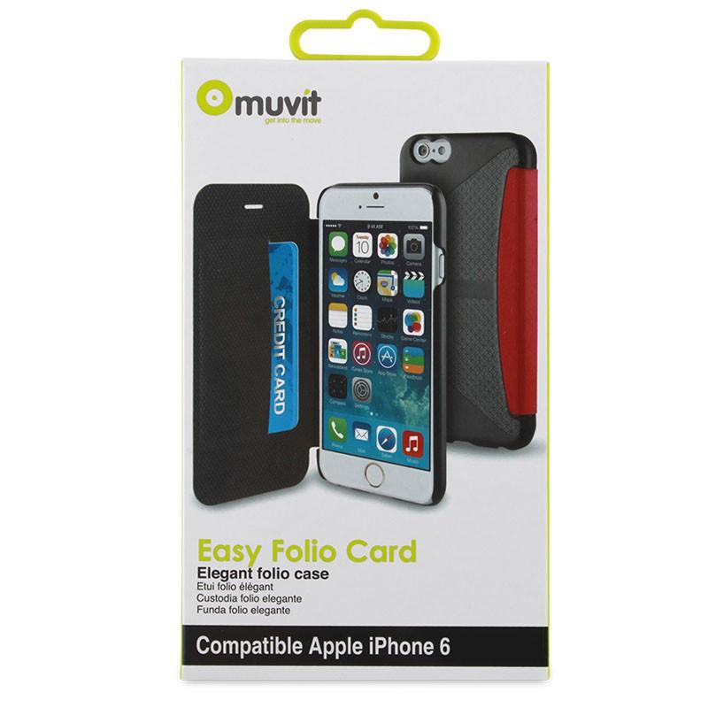 Muvit Easy Folio iPhone 6 Plus Denim Pink - 3