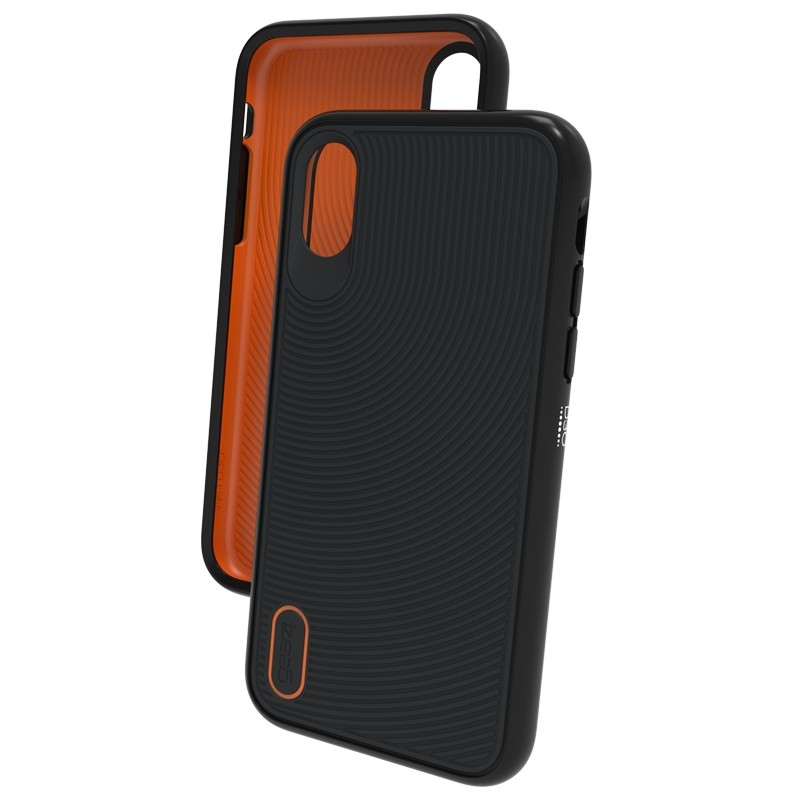 Gear4 Battersea iPhone X/Xs Hoesje Black/Orange 03