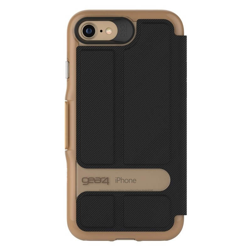 Gear4 Oxford Book Case iPhone 7 Black/ Gold - 3