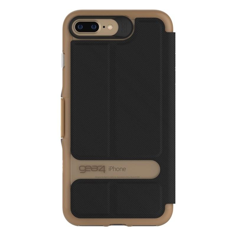 Gear4 Oxford Book Case iPhone 7 Black/Gold - 3