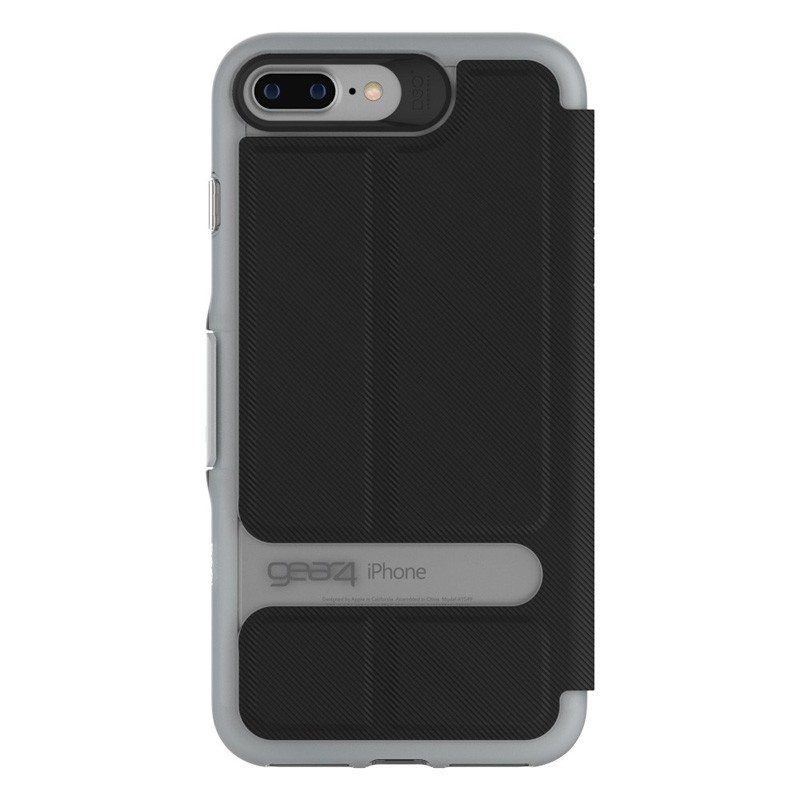 Gear4 Oxford Book Case iPhone 7 Black/Silver - 3